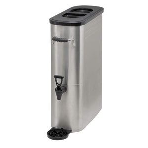 Winco SSBD-5 Stainless Steel Ice Tea Dispenser, 5-Gallon - JrcNYC