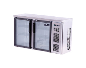 "Spartan SSGBB-58-SL 52"" Back Bar Cooler, Stainless Steel, Glass Door - JrcNYC"