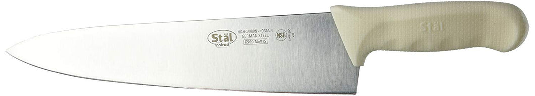 Winco Wide Chef Knife Stal Cutlery - JrcNYC