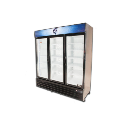 Bison BGM-53 3 Door Glass Reach-In Refrigerator - JrcNYC