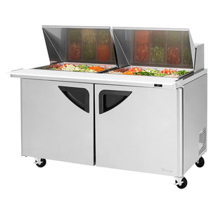 "Turbo Air TST-60SD-24-N 60"" 2 Door Mega Top Refrigerated Sandwich Prep Table - JrcNYC"