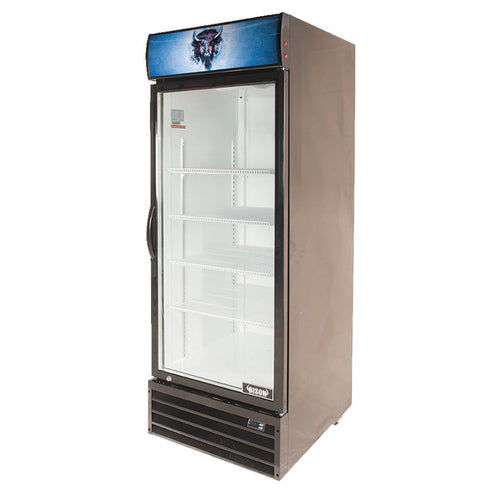 Bison BGM-21 1 Door Glass Reach-In Refrigerator - JrcNYC