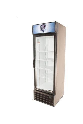 Bison BGM-15 1 Door Glass Reach-In Refrigerator - JrcNYC