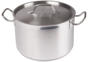 Stainless Steel Stock Pot with Cover - JrcNYC