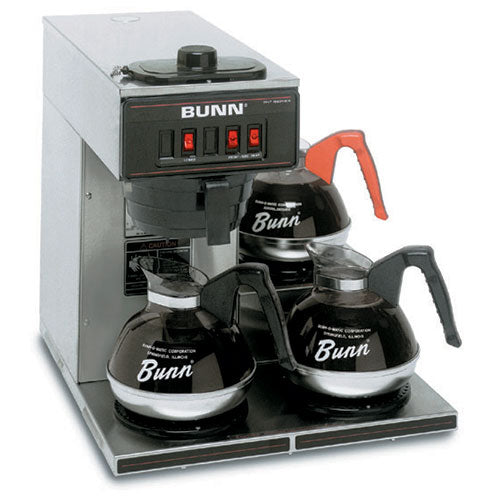 Bunn 13300.0003 VP17-3 Low Profile Pourover Coffee Brewer with 3 Warmers - JrcNYC