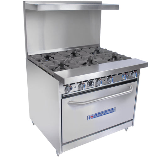 Bakers Pride Restaurant Series 36-BP-6B-S30 Natural Gas 6 Burner Range with Standard 30
