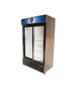 Bison BGM-35-SD 2 Door Glass Reach-In Refrigerator - JrcNYC