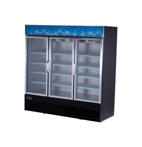 Spartan SGM-72RS 2 Door Reach-In Glass Door Refrigerator - JrcNYC