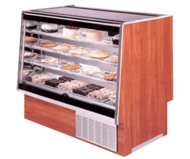 SQBCR Series, High Volume Refrigerated or Dry Bakery Display Case - JrcNYC