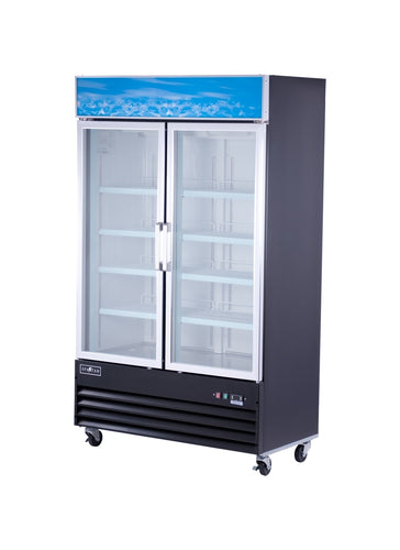 Spartan SGM-49RS 2 Door Reach-In Glass Door Refrigerator - JrcNYC