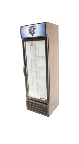 Bison BGM-8 1 Door Glass Reach-In Refrigerator - JrcNYC
