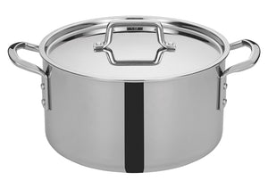Tri-Gen™ Tri-Ply Stainless Steel Stock Pot with Cover - JrcNYC