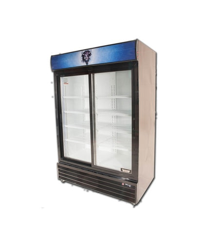 Bison BGM-49-SD 2 Door Glass Reach-In Refrigerator - JrcNYC