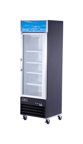 Spartan SGM-26RS 1 Door Reach-In Glass Door Refrigerator - JrcNYC