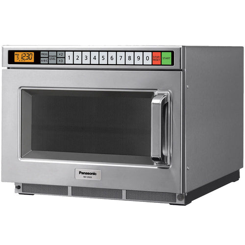 Panasonic NE-17521 Stainless Steel Commercial Microwave Oven - 208/230-240V, 1700W - JrcNYC