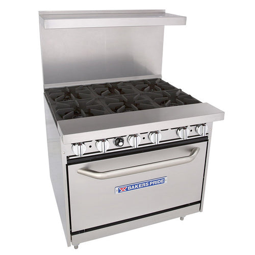 Bakers Pride 36-BP-6B-C30 Restaurant Series Natural Gas 6 Burner Range with 30