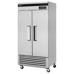 "Turbo Air TSR-35SD-N Super Deluxe 40"" Bottom Mounted Solid Door Reach-In Refrigerator with LED Lighting - JrcNYC"