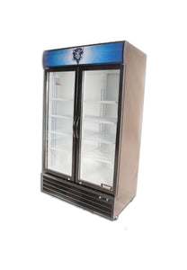 Bison BGM-35 2 Door Glass Reach-In Refrigerator - JrcNYC