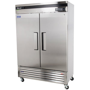"Turbo Air TSR-49SD-N6 Super Deluxe 54"" Bottom Mounted Solid Door Reach-In Refrigerator with LED Lighting - JrcNYC"