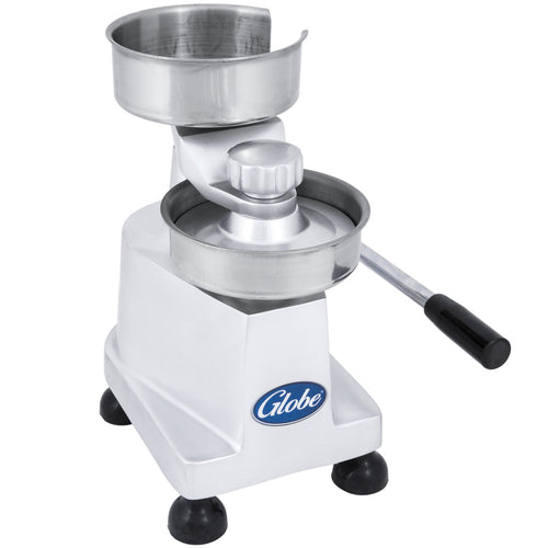 Globe PP4/PP5 Manual. Patty Press with Single-Level Handle - JrcNYC