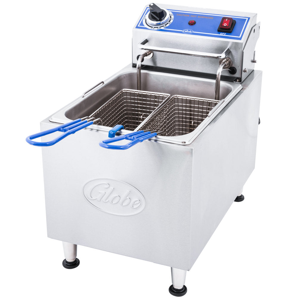 Globe PF16E 16 lb. Electric Countertop Fryer - JrcNYC