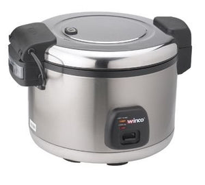 Winco RC-S300 30-Cup Electric Rice Cooker W/ Hinged Cover & Stainless Body, Satin Finish - Rice - JrcNYC