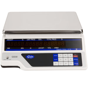 Globe GS30 30 lb. Price Computing Scale, Legal for Trade - JrcNYC
