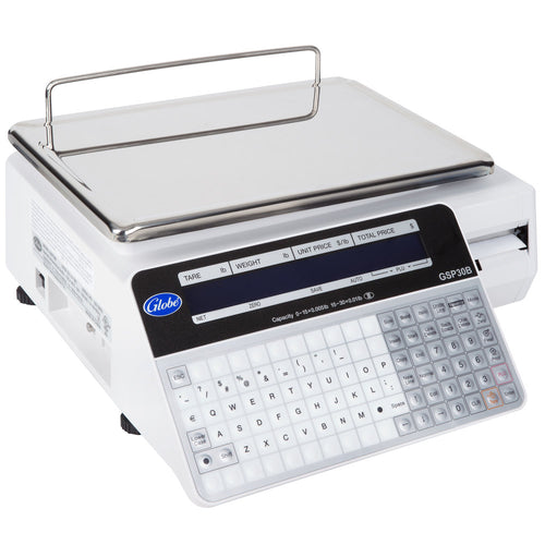 Globe GSP30B 30 lb. Price Computing Label Printing Scale, Legal for Trade - JrcNYC