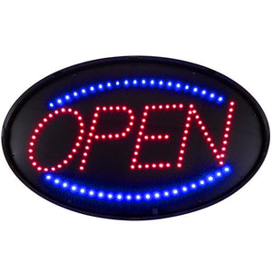 "Choice 20 3/4"" x 13"" LED Open Sign With Four Display Modes - JrcNYC"