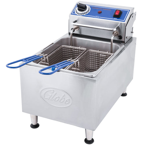 Globe PF10E 10 lb. Electric Countertop Fryer - JrcNYC