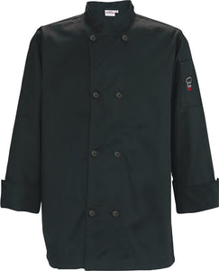 Long Sleeve Double Breasted Tapered Unisex Chef Coat UNF-6KL - JrcNYC