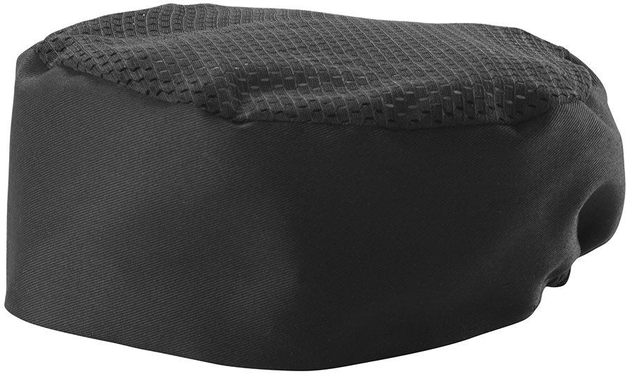Winco CHPB-3BR Poly-Cotton Pillbox Hat, Black - JrcNYC