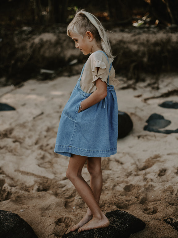 The Oversized Denim Pinafore
