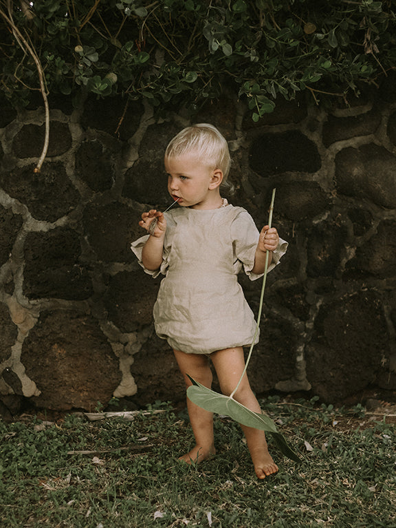 The Linen Overall Romper