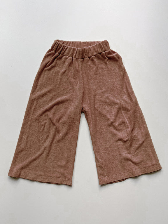 The Wide Leg Terry Trouser