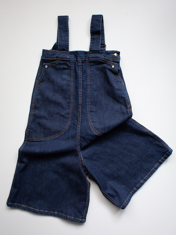 The Denim Wide Leg Overall