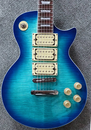 NEW FFLPS 3 PICHUPS  ELECTRIC GUITARS (Transparent Blue )BO3