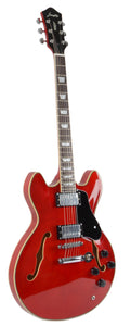 Full Size Hollow body Electric Guitar (Transparent Red)