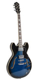Full Size Semi Hollow Body Electric Guitar (Blueburst Color)