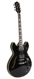 Full Size Semi Hollow Body Electric Guitar (Black Color)