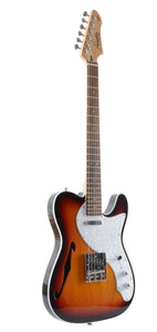 Firefly FFTH Semi-Hollow Body Electric Guitar (Sunburst)