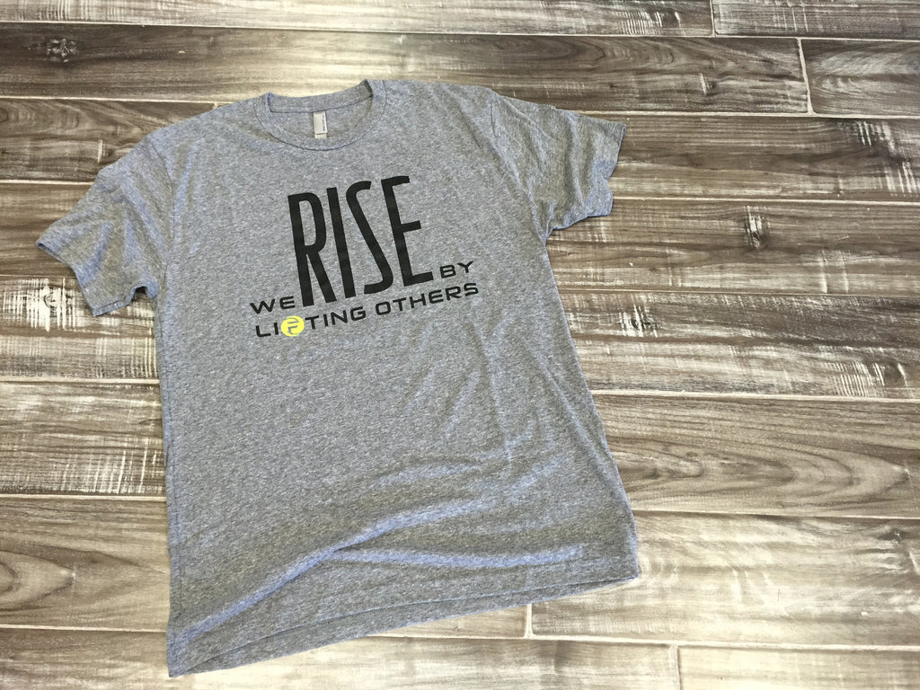 WE RISE BY LIFTING OTHERS | ATHLETIC GREY