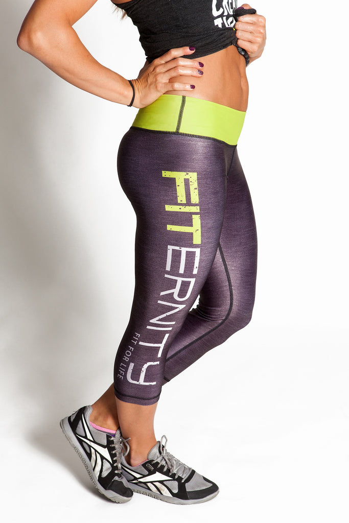 FITERNITY Heather Gray / Volt | Crop