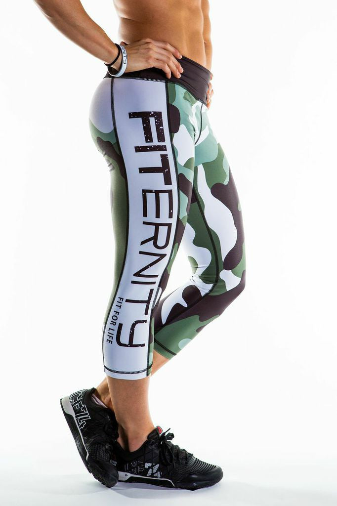 FITERNITY Army Camo | Crop