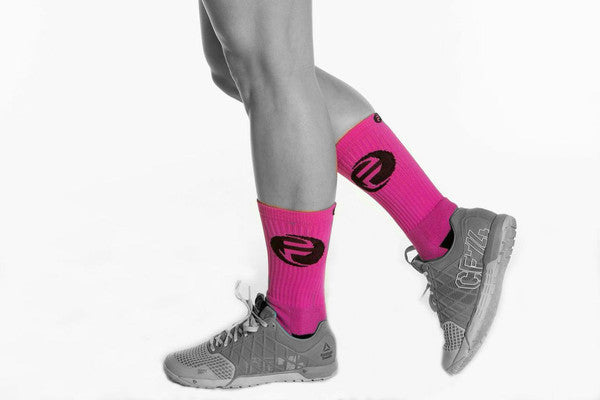 "Fittest Socks on Earth | ""F"" Graphic Pink"