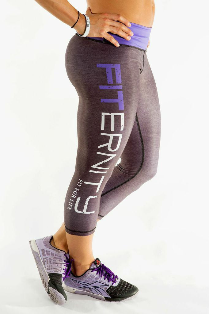 FITERNITY Heather Gray / Purple | Crop
