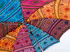 Interior of Multi Colored Indian Sari Parasol