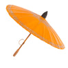 Thai Orange and Silver Painted Cotton Parasol