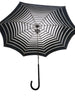 Pasotti Striped Black and White Parasol Interior Detail