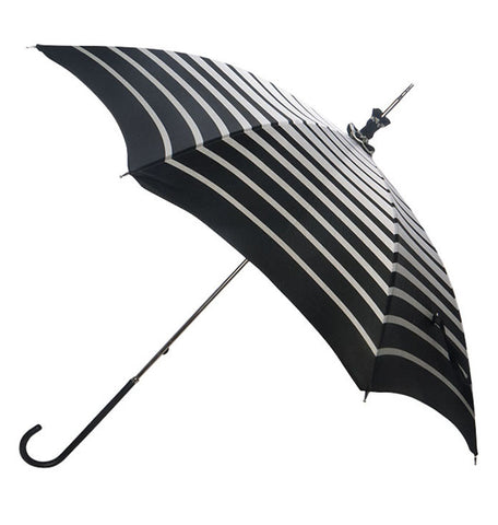 Pasotti Black and White Striped Parasol